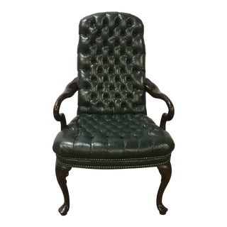 Schafer Brothers Style Tufted Leather Chair For Sale