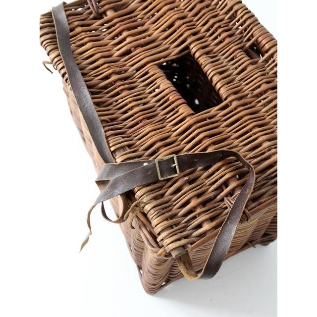 Antique Wicker Fishing Basket - Image 6 of 11