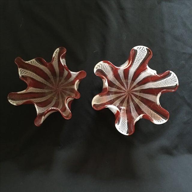 Venini Murano Handkerchief Vases - A Pair - Image 7 of 9