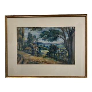 American West Impressionist Oil Pastel Painting For Sale