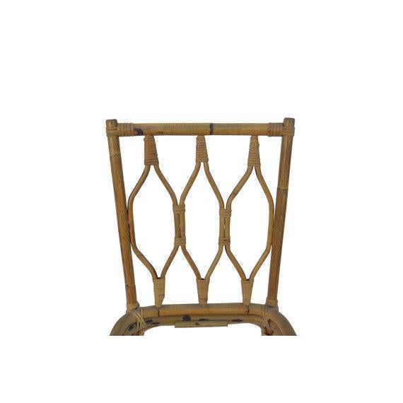 Mid-Century Modern Bamboo Dining Set - Image 4 of 5