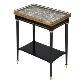 Louis XVI Style Ebonized Side Table For Sale