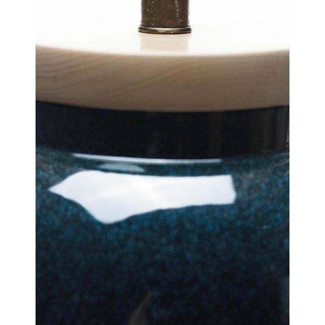 Lawrence & Scott Lawrence & Scott Sybil Porcelain Table Lamp in Ocean Glaze For Sale - Image 4 of 6