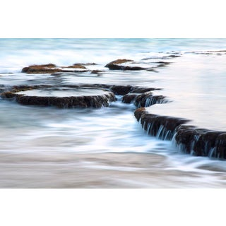 """""""Saltwater Fall B - Kauai, Hawaii"""" Contemporary Seascape Photograph by George Diebold For Sale"""