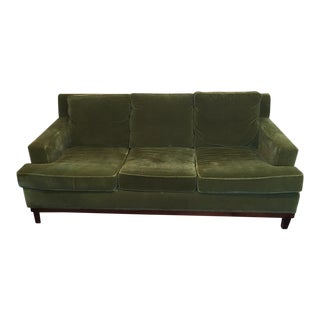 1990s Vintage Mohair 3 Seat Sofa For Sale