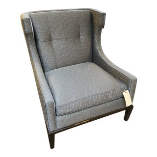 A. Rudin Contemporary Kismos Inspired Lounge Chair Silver For Sale