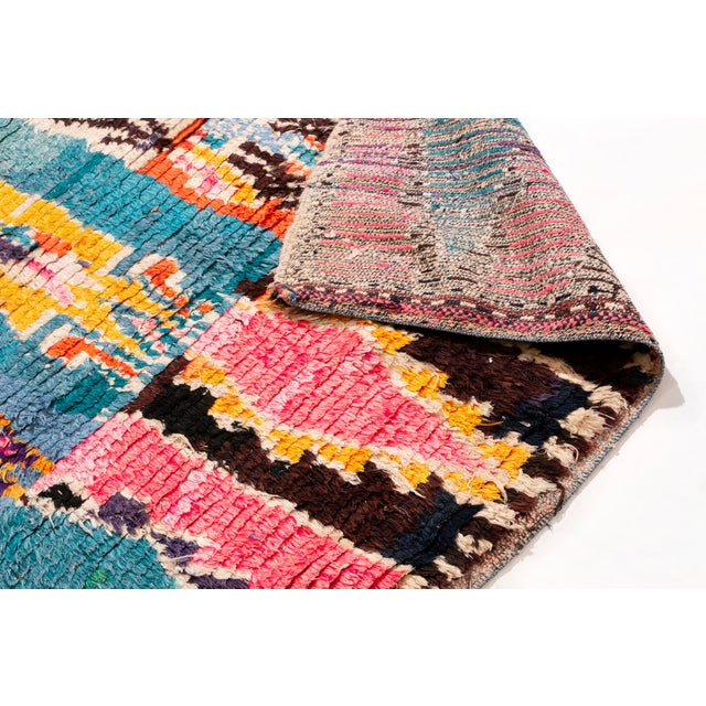 Contemporary Contemporary Moroccan Geometric Wool Rug - 4′6″ × 6′ For Sale - Image 3 of 6