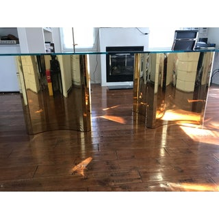 Mid-Century Modern Glass Brass Bases Only Preview