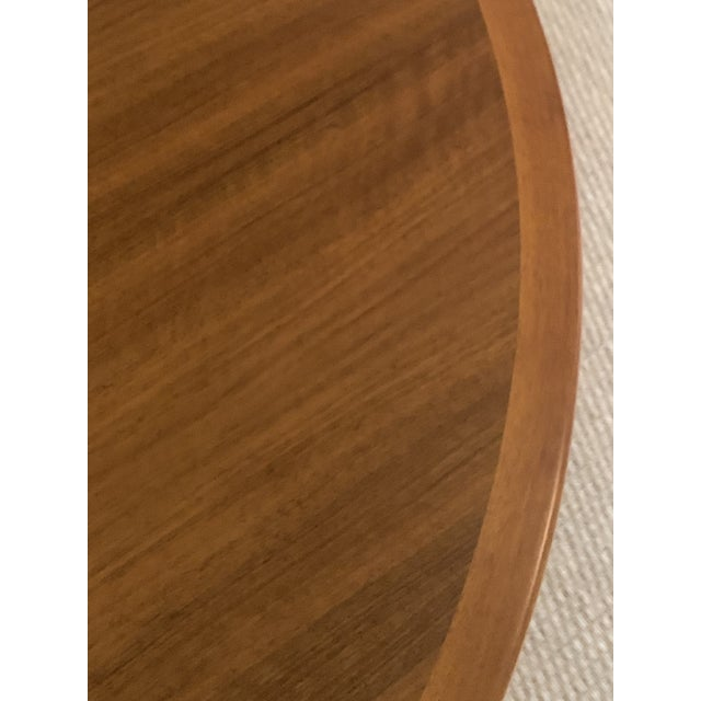 Brown Vintage Swedish Walnut Dining Table by B. Fridhagen for Bodafors For Sale - Image 8 of 13
