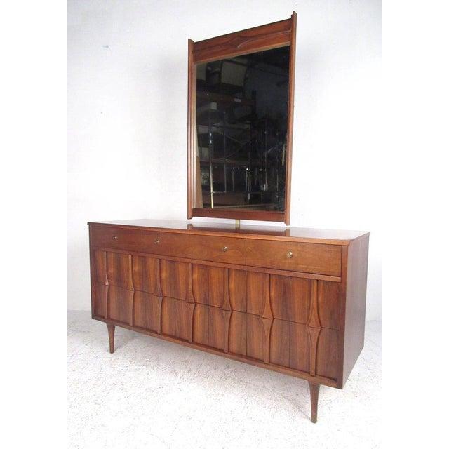 . Midcentury Walnut Bedroom Suite by Coleman of Virginia