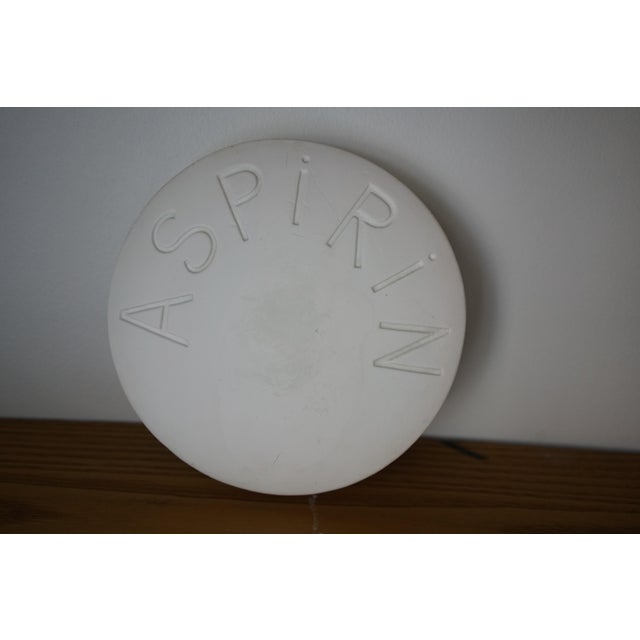 Vintage Mid Century Plaster Aspirin Paperweight For Sale In Raleigh - Image 6 of 10