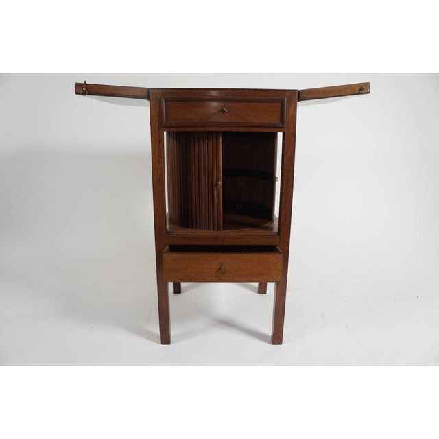 Mahogany Tambour Stand, England, Circa 1790 For Sale - Image 4 of 11