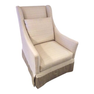 Modern Lee Industries Swivel Chair For Sale