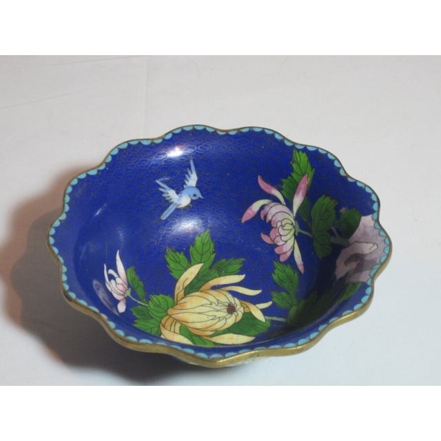 Scalloped Cloisonné Bowl - Image 5 of 6