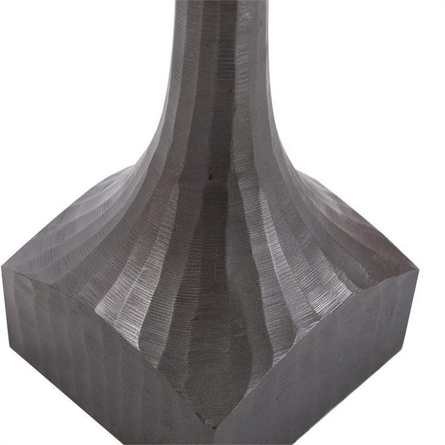 Contemporary Kenneth Ludwig Chisled Aluminum Drinks Table For Sale - Image 3 of 6