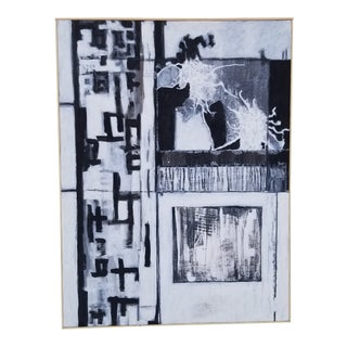 Contemporary Abstract Acrylic Painting by Kelly Caldwell, Framed For Sale
