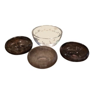 Waterford Evolution Safari Series & Crystal Decorative Bowls - Set of 4 For Sale