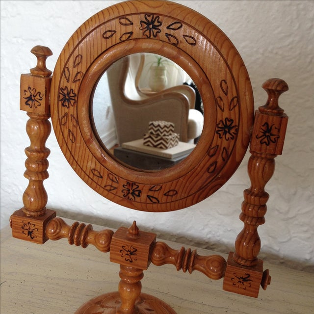Moroccan Hand-Painted Vintage Mirror - Image 8 of 9