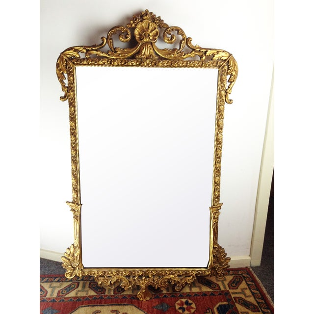 Antique Gilded Ornate Wall Mirror - Image 2 of 9