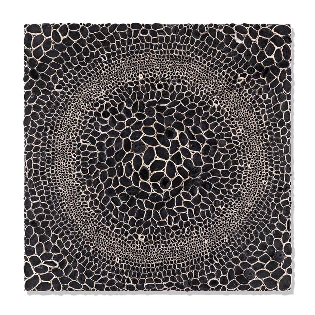 This set of 9 black and white mixed media dimensional paper pieces are by Amy Genser. These colorful, textural, one-of-a-...