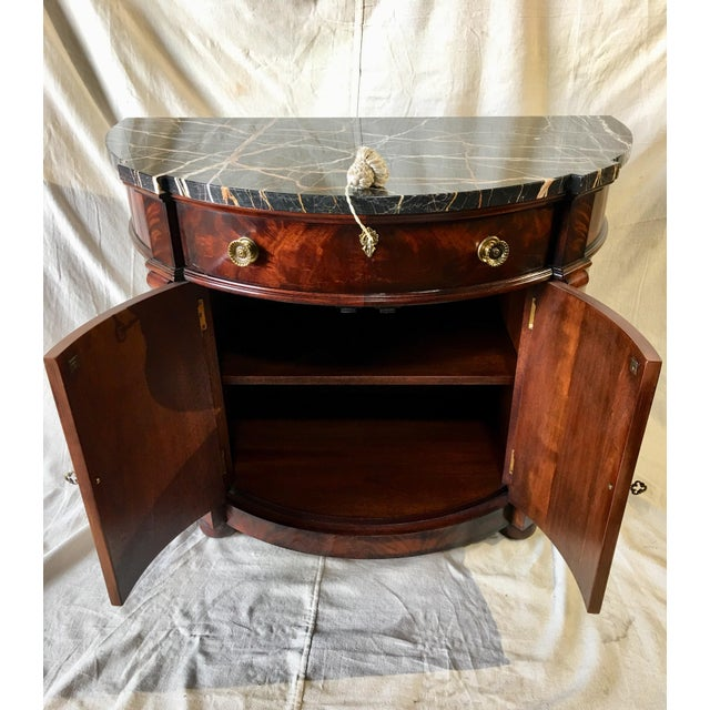 Gold Henredon Natchez Demilune Console With Marble Top For Sale - Image 8 of 11