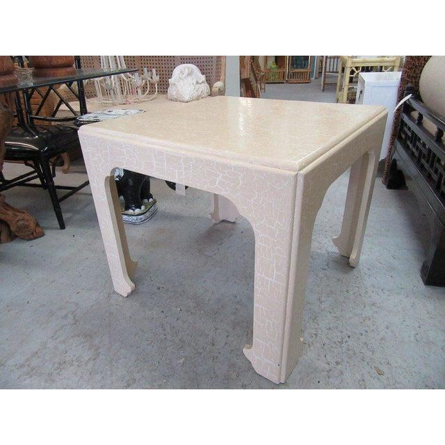 Baker Flirty White Crackle Finish Side Table - Image 7 of 7