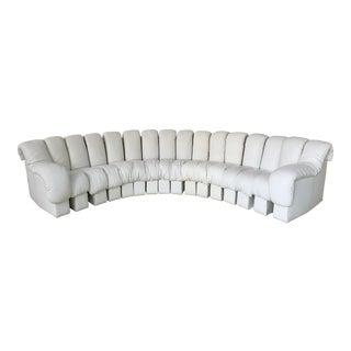 De Sede Ds600 Non-Stop White Leather Sofa For Sale