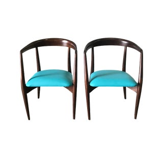 Pair of Lawrence Peabody for Nemschoff Chairs - Refurbished For Sale