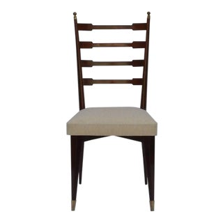 Set of Six Exceptional Mid-Century Italian Dining Chairs For Sale
