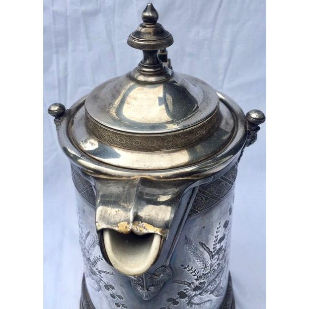 Reed & Barton 1870s Reed & Barton Victorian Silverplated Water Pitcher For Sale - Image 4 of 13
