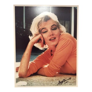 George Barris Signed Original Marilyn Monroe Photo Stamped For Sale