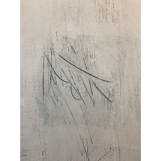 Original Modern White on White Painting For Sale - Image 4 of 6