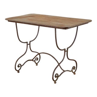 French Art Nouveau Iron Bistro Dining Table For Sale