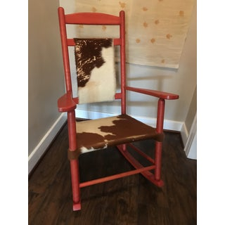 1910s Vintage Red Rocker Chair Preview