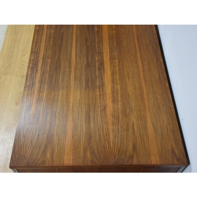 Brown Lehigh Leopold Walnut Executive Desk For Sale - Image 8 of 11