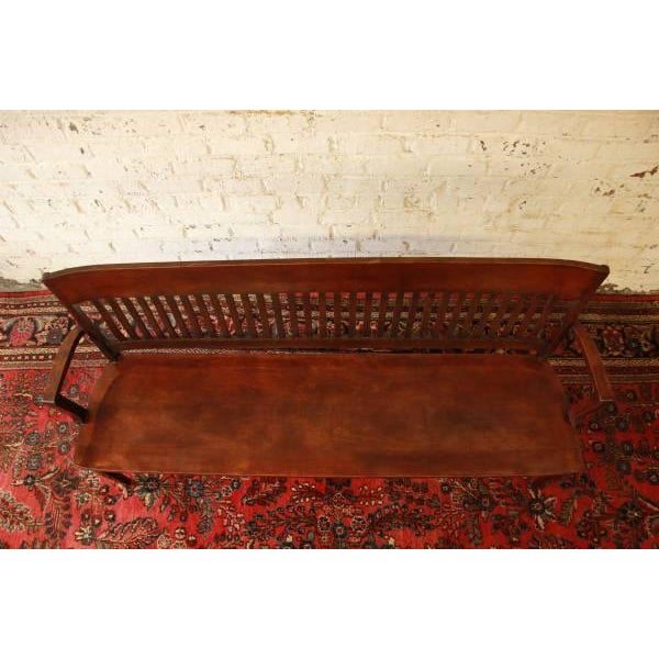 Mission Early 1900's Lawyers Bench by Heywood-Wakefield For Sale - Image 3 of 8