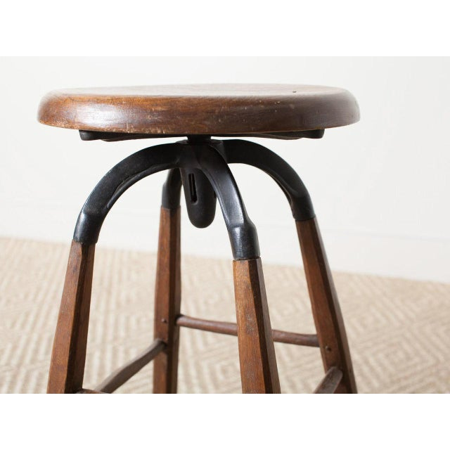 Vintage Atelier Stool For Sale - Image 4 of 6