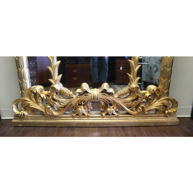 Hollywood Regency 1990s Vintage Italian Gilded Pier Mirror For Sale - Image 3 of 13