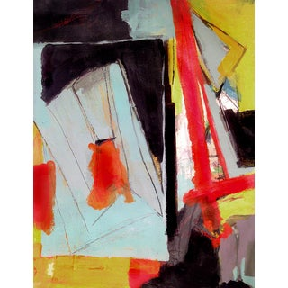 Bold Colorful Contemporary Abstract Still-Life Painting For Sale