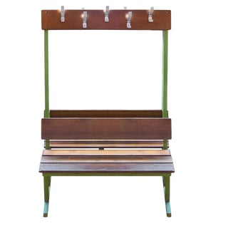 Double-Sided French Locker Room Bench