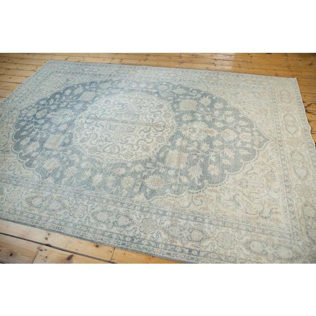 "Vintage Distressed Oushak Carpet - 6'6"" X 9'7"" For Sale - Image 10 of 13"