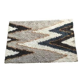 Lenny Kravitz for Cb2 Vibrations Wool Shag Rug - 5′ × 8′ For Sale