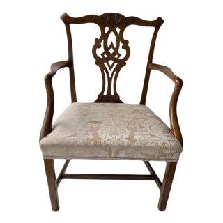 Late 18th Century George III Walnut Arm Chair For Sale