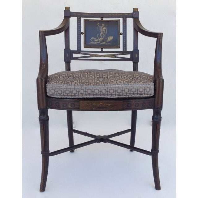Maison Jansen Hand-Painted Regency Chair - Image 3 of 11