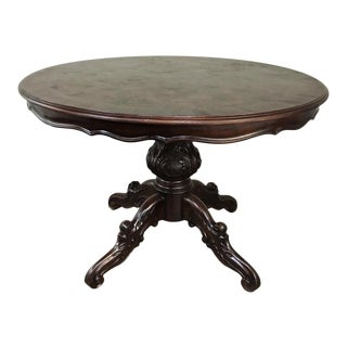 Antique Italian Walnut Center Table For Sale