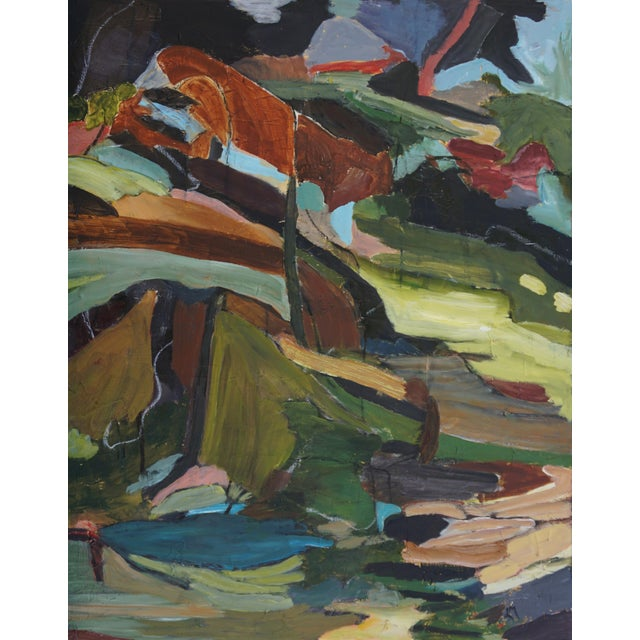 """Laurie MacMillan """"Fractures and Folds"""" Abstract Landscape For Sale"""