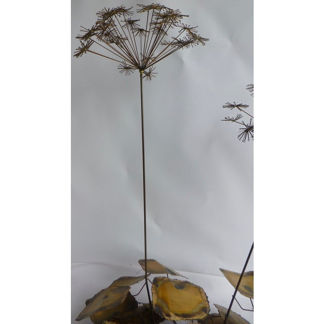 Signed Friedle Metal Wildflower Sculpture - Image 10 of 11