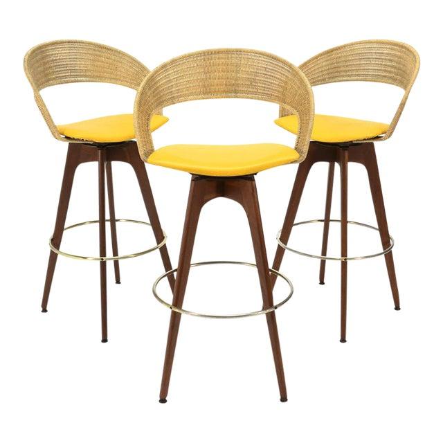 Chet Beardsley Swivel Bar Stools - Set of 3 - Image 1 of 5