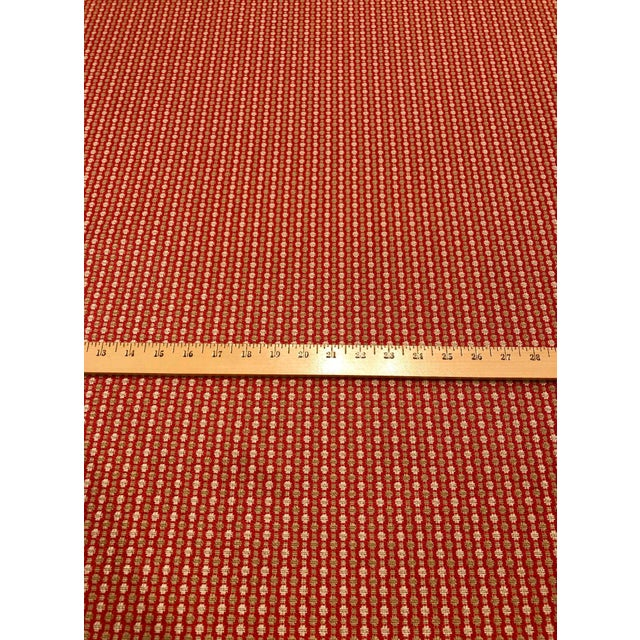 Jane Churchill for Cowtan & Tout Castor - Transitional Red / Sand Upholstery Fabric - 10 Yards For Sale - Image 4 of 5