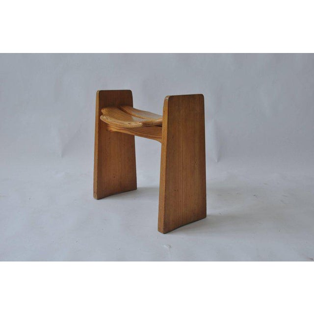 Early 20th Century Solid Pine Stool by Gilbert Marklund For Sale - Image 5 of 7